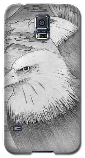 Galaxy S5 Case featuring the painting Haliaeetus Leucocephalus Named By Roger Swezey by Richie Montgomery