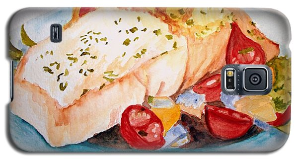 Halibut Dinner Galaxy S5 Case by Carol Grimes