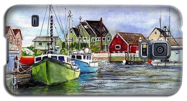 Peggys Cove Nova Scotia Watercolor Galaxy S5 Case by Carol Wisniewski