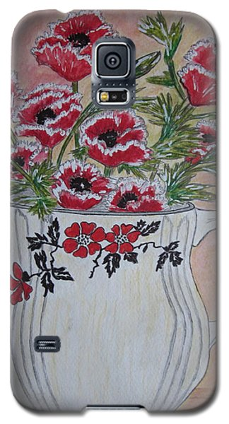 Hall China Red Poppy And Poppies Galaxy S5 Case by Kathy Marrs Chandler