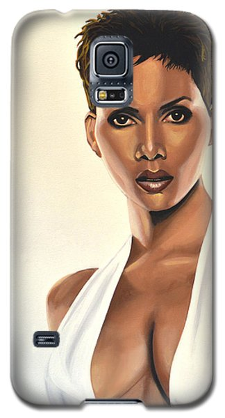 Halle Berry Painting Galaxy S5 Case by Paul Meijering