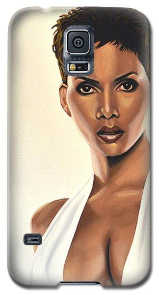Swordfish Galaxy S5 Case - Halle Berry Painting by Paul Meijering