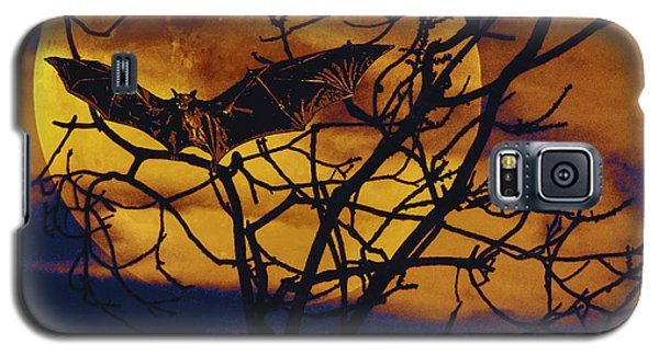 Galaxy S5 Case featuring the painting Halloween Full Moon Terror by David Mckinney