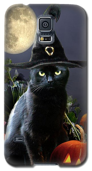 Witchy Black Halloween Cat Galaxy S5 Case