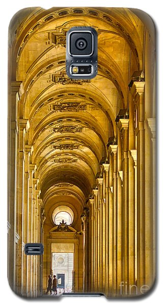 Galaxy S5 Case featuring the photograph Hallway At The Louvre In Paris by Cynthia Lagoudakis