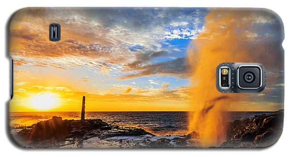Galaxy S5 Case featuring the photograph Halona Blowhole At Sunrise by Aloha Art