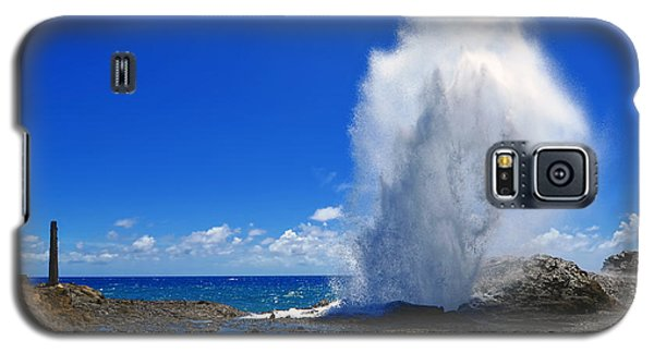 Galaxy S5 Case featuring the photograph Halona Blowhole Exploding Geyser by Aloha Art