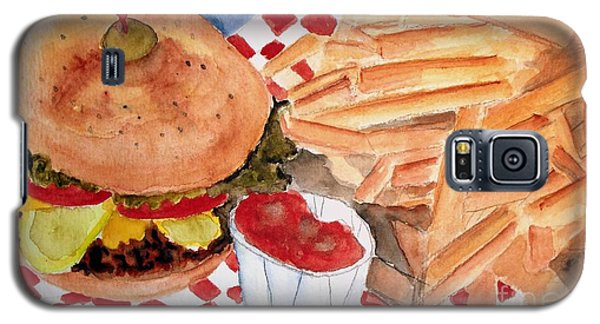 Hamburger Plate With Fries Galaxy S5 Case by Carol Grimes