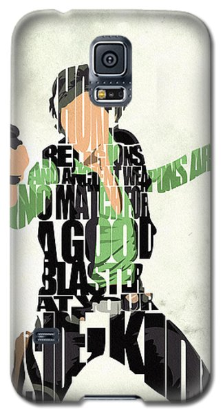 Han Solo From Star Wars Galaxy S5 Case by Ayse Deniz