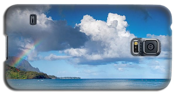 Hanalei Bay And Rainbow Galaxy S5 Case by Roger Mullenhour