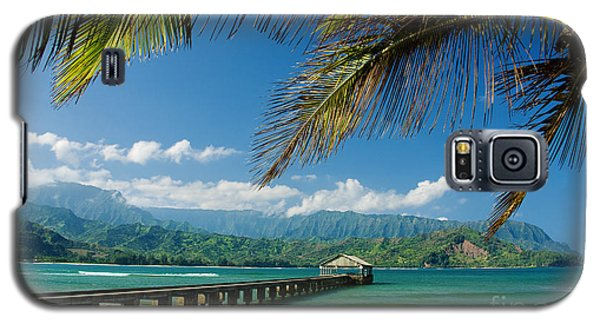 Hanalei Pier And Beach Galaxy S5 Case by M Swiet Productions