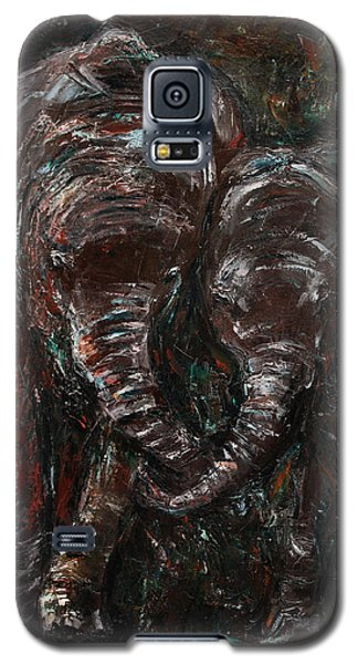 Galaxy S5 Case featuring the painting Hand In Hand by Xueling Zou