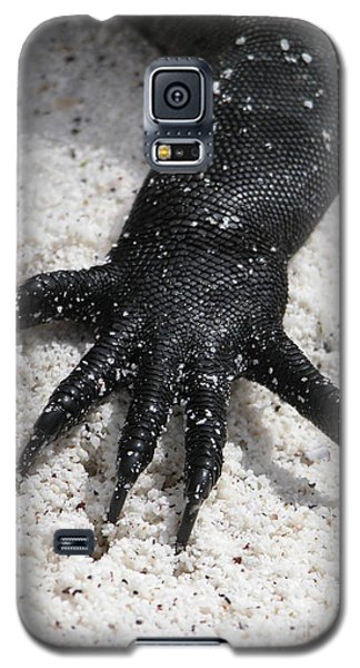 Galaxy S5 Case featuring the photograph Hand Of A Marine Iguana by Liz Leyden