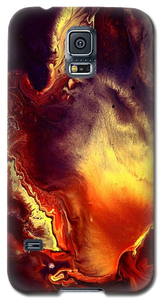 Hand Of Gold Translucent Fluid Macro Photography Art By Kredart Galaxy S5 Case