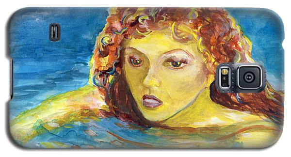 Hand Painted Art Adult Female Swimmer Galaxy S5 Case