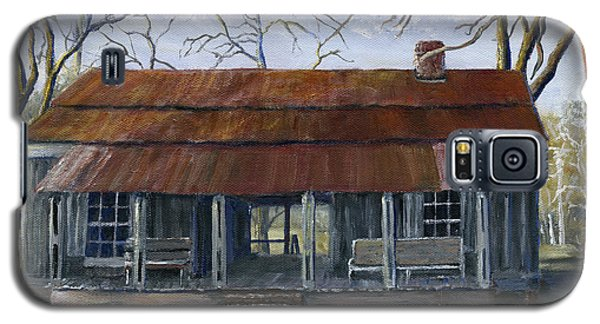 Hand Painted Art Dogtrot House In Pleasant Hill Louisiana Galaxy S5 Case