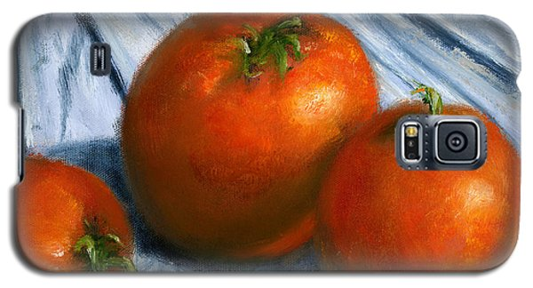 Hand Painted Art Still  Life Tomatoes Galaxy S5 Case