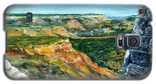 Hand Painted Palo Duro Texas Landscape Galaxy S5 Case
