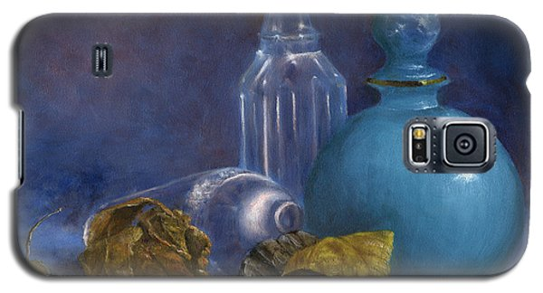 Hand Painted Still Life Bottles Leaves Galaxy S5 Case
