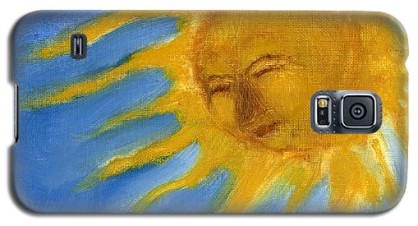 Hand Painted Sun Face Old Sol Galaxy S5 Case