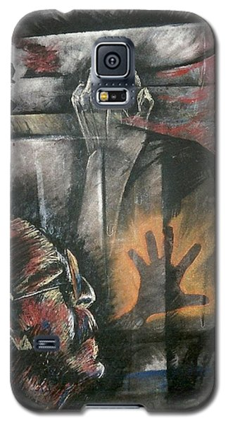 Galaxy S5 Case featuring the mixed media Hands And Feet by Carrie Maurer