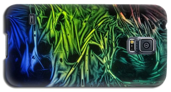 Galaxy S5 Case featuring the photograph chemiluminescence photography Handprint by David Mckinney