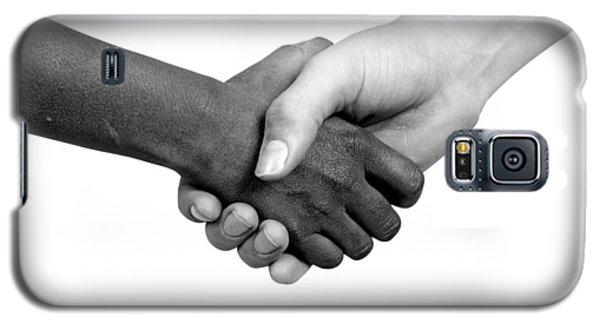Handshake Black And White Galaxy S5 Case
