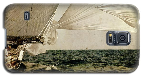 Galaxy S5 Case featuring the photograph Hanged On Wind In A Mediterranean Vintage Tall Ship Race  by Pedro Cardona