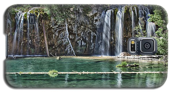 Galaxy S5 Case featuring the photograph Hanging Lake by Priscilla Burgers