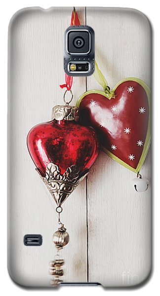Hanging Ornaments On White Background Galaxy S5 Case
