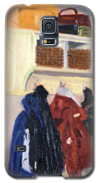 Galaxy S5 Case featuring the painting Hanging Out by Michael Daniels