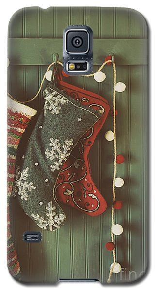 Hanging Stockings Ready For Christmas Galaxy S5 Case