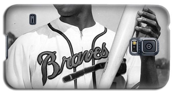 Hank Aaron Poster Galaxy S5 Case by Gianfranco Weiss