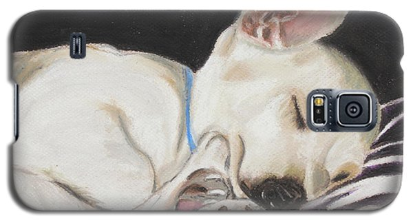 Galaxy S5 Case featuring the painting Hanks Sleeping by Jeanne Fischer