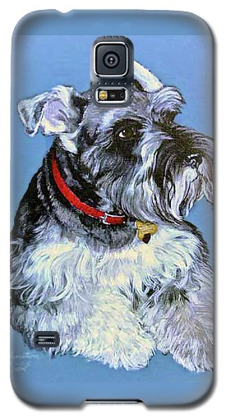 Galaxy S5 Case featuring the painting Hans The Schnauzer Original Painting Forsale by Bob and Nadine Johnston
