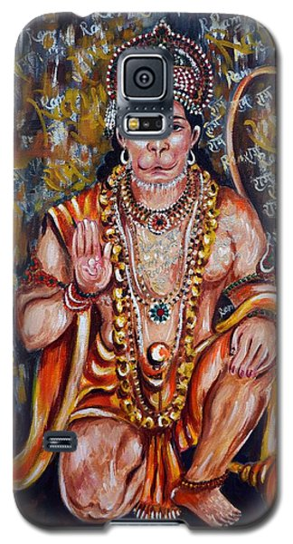Galaxy S5 Case featuring the painting Hanuman by Harsh Malik