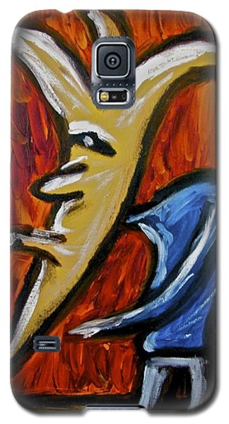 Galaxy S5 Case featuring the painting Happiness 12-001 by Mario Perron