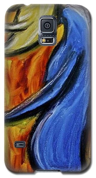 Galaxy S5 Case featuring the painting Happiness 12-005 by Mario Perron