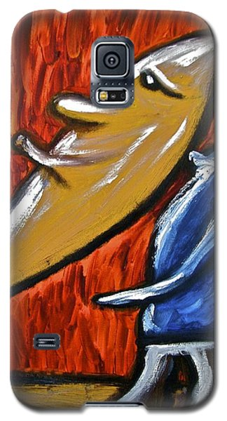 Galaxy S5 Case featuring the painting Happiness 12-006 by Mario Perron