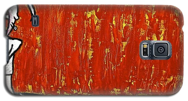Galaxy S5 Case featuring the painting Happiness 12-007 by Mario Perron
