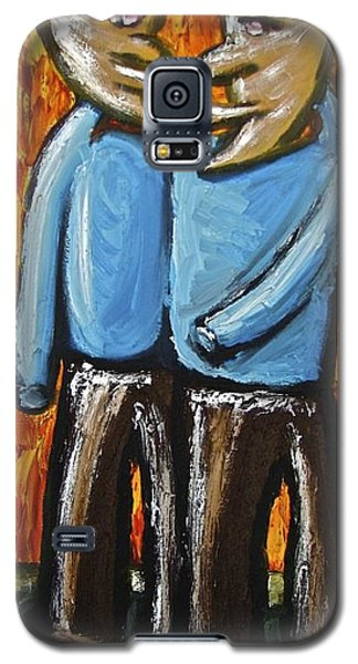 Galaxy S5 Case featuring the painting Happiness 12-008 by Mario Perron