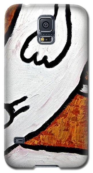 Galaxy S5 Case featuring the painting Happiness 12-010 by Mario Perron