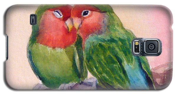 Happiness Forever Lovebirds Galaxy S5 Case