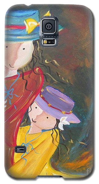 Galaxy S5 Case featuring the painting Happiness by Nereida Rodriguez