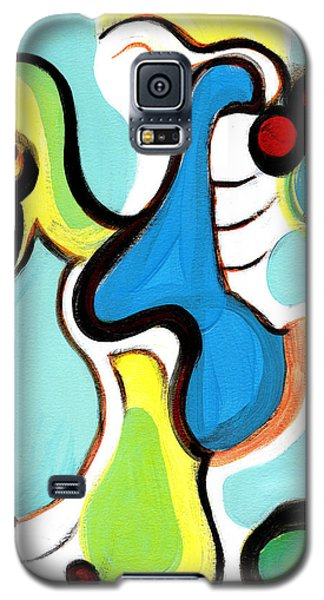 Galaxy S5 Case featuring the painting Happiness by Stephen Lucas