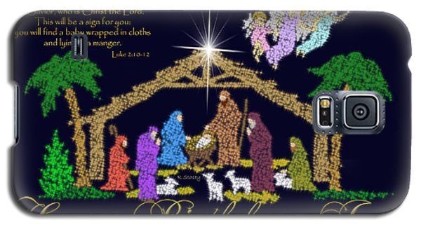 Happy Birthday Jesus Nativity Galaxy S5 Case