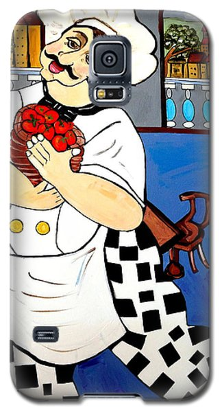 Galaxy S5 Case featuring the painting Chef  Happy Chef by Nora Shepley