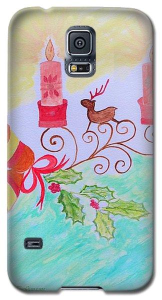 Happy Christmas Galaxy S5 Case by Sonali Gangane