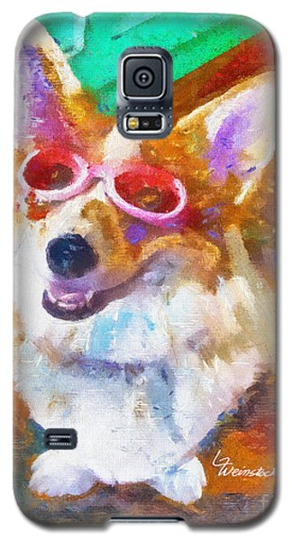 Galaxy S5 Case featuring the painting Alameda Happy Little Cancer Survivor  by Linda Weinstock