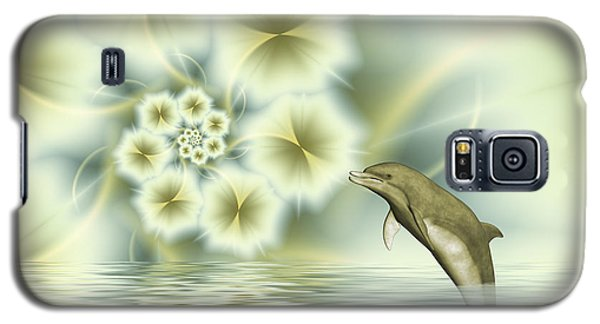 Happy Dolphin In A Surreal World Galaxy S5 Case by Gabiw Art